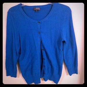 The Limited Cotton Cardigan Cobalt Blue EUC Medium